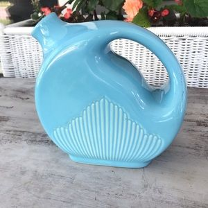 Teal Blue Ceramic Pitcher Vase Decor Decoration